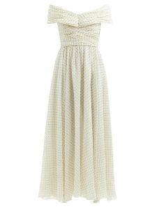 Emilia Wickstead - Python-print High-rise Linen Maxi Skirt - Womens - Pink Print