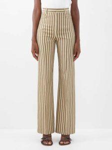 Haight - Heart V-neck Wrap Crepe Midi Dress - Womens - Black