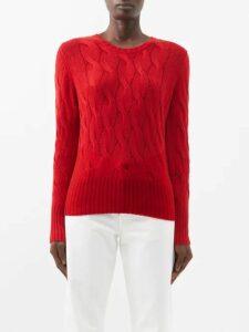 Haight - Heart V-neck Wrap Crepe Midi Dress - Womens - Dark Yellow