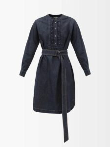 The Row - Carla Long-sleeved Twill Shirt - Womens - Black