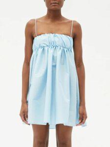 The Attico - Crystal-embellished Stretch-jersey Mini Dress - Womens - Black