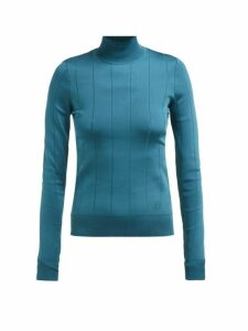 Givenchy - Striped Ribbed Knit Sweater - Womens - Blue