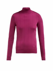 Givenchy - High-neck Stretch-knit Top - Womens - Pink