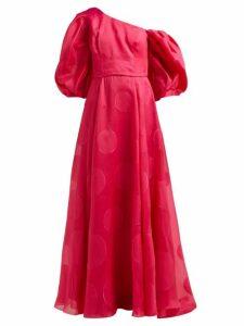 Carolina Herrera - Fil-coupé Silk-blend Organza Gown - Womens - Fuchsia