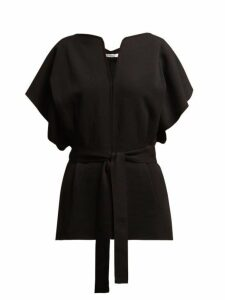 Givenchy - Knitted Kimono-sleeve Belted Top - Womens - Black