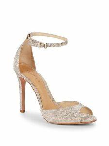 Stiletto Heel Ankle-Strap Leather Sandals