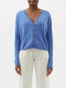 Joostricot - Breton Short-sleeved Cotton-blend Sweater - Womens - Navy White