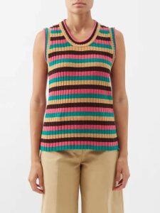 Etro - Varo Paisley-print Jacquard Skirt - Womens - Red Print
