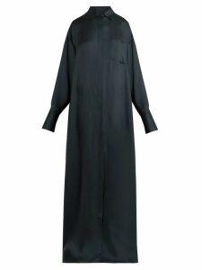 The Row - Siena Crepe Shirtdress - Womens - Dark Green