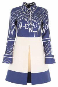 Valentino Shirt Dress With Chevron Logo