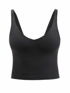 Balenciaga - Striped Cotton Sweatshirt - Womens - Black Green