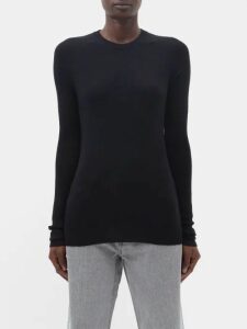 Christian Louboutin - Babaspikes Silver Spike Leather Pumps - Womens - Black Silver