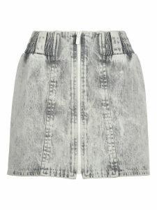 Miu Miu Miu Miu Bleached Denim Mini Skirt