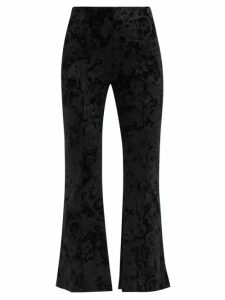 Christian Louboutin - Psybootie 100 Embroidered Mesh Ankle Boots - Womens - Black