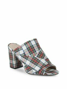Block Heel Slip-On Sandals
