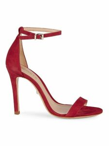 Classic Suede Ankle-Strap Sandals