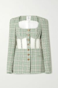 Hillier Bartley - Metallic-trimmed Ribbed Cashmere Turtleneck Sweater - Gray