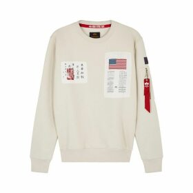 Alpha Industries Blood Chit Appliquéd Cotton-blend Sweatshirt