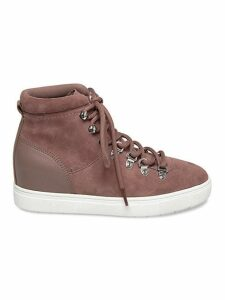 Kalea Suede High-Top Wedge Sneakers