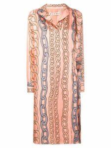 Marni chain print dress - PINK