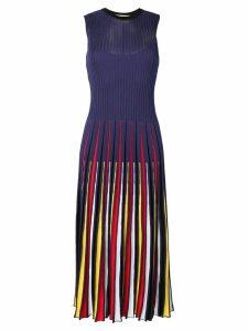 MSGM pleated dress - Blue