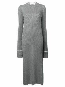 Maison Margiela long knitted dress - Grey