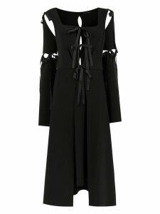 Gloria Coelho midi panelled dress - Black