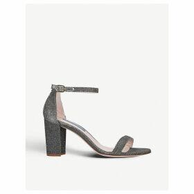 Nearlynude metallic block-heel glitter sandals