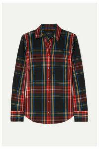 J.Crew - Stretch Perfect Plaid Cotton-blend Shirt - Black