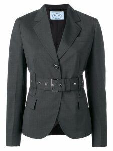 Prada belted single-breasted blazer - Grey