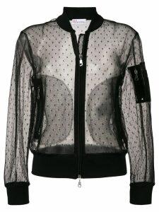 RedValentino sheer bomber jacket - Black