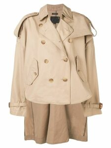 R13 military cropped jacket - NEUTRALS