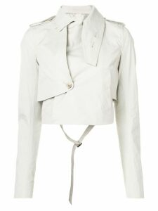 Rick Owens cropped length jacket - NEUTRALS