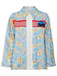 Miu Miu printed jacket - Blue