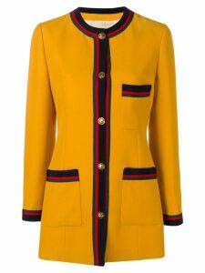 Gucci web detail jacket - Yellow