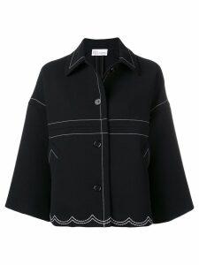 RedValentino stitching detail oversized jacket - Black
