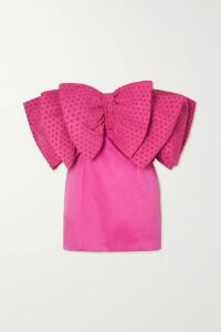 Peter Pilotto - Off-the-shoulder Striped Lurex And Silk-blend Chiffon Top - Gold
