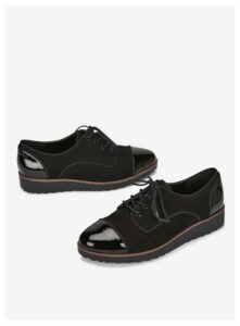 Wide Fit Black Lace Up Brogues, Black
