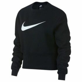 Nike  Swoosh Crew  women's Sweatshirt in Black