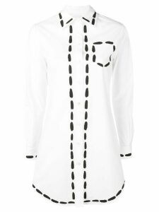 Moschino long painted shirt - White