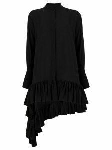 Alexander McQueen midi silk blouse - Black