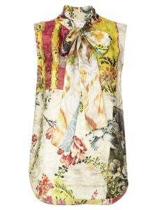 Oscar de la Renta mixed print blouse - Multicolour