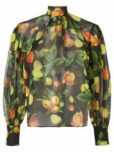 MSGM fruit print blouse - Green
