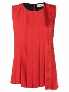 Sonia Rykiel large pleat blouse - Red