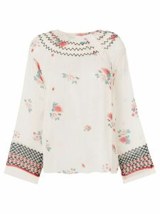 Philosophy Di Lorenzo Serafini zigzag embroidered neck raglan blouse -