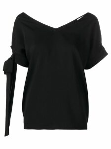 P.A.R.O.S.H. straps on sleeve blouse - Black