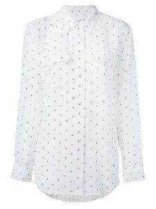 Equipment dot print shirt - White