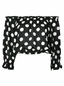 Rixo polka dot off-the-shoulder blouse - Black