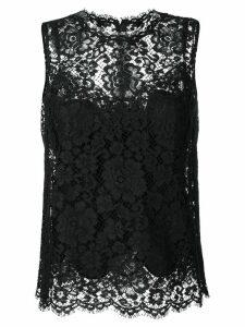 Dolce & Gabbana lace trim top - Black