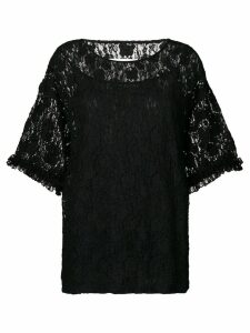 Mm6 Maison Margiela oversized lace blouse - Black